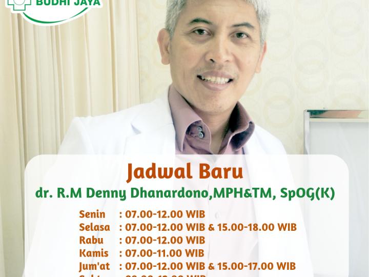 Jadwal Praktik Baru dr. R.M. Denny Dhanardono, MPH&TM, SpOG(K)
