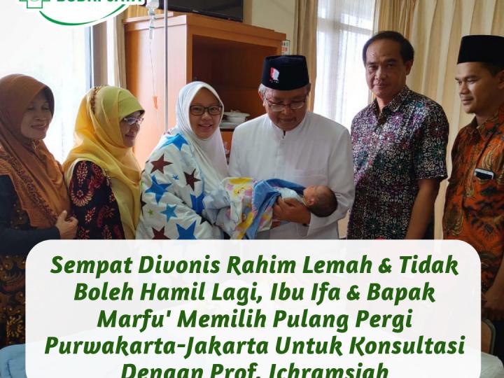 Purwakarta-Jakarta, Tidak Mempupuskan Harapan Ibu Ifa & Bapak Marfu' Untuk Menjaga Kehamilan Tetap Sehat