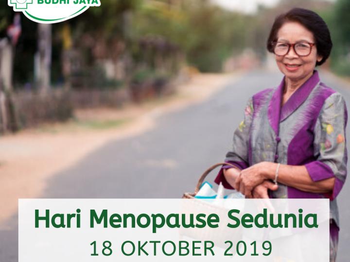 Selamat Hari Menopause Sedunia, 18 Oktober 2019