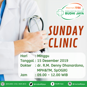 Sunday Clinic-dr. R.M. Denny Dhanardono, MPH&TM, SpOG(K)