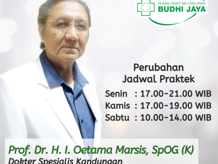 Perubahan Jadwal Praktek Prof. Dr. H. I. Oetama Marsis, SpOG (K)