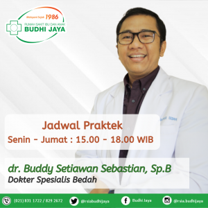 Jadwal dr. Buddy Setiawan Sebastian, Sp.B
