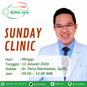 Jadwal Sunday Clinic-12 Januari 2020