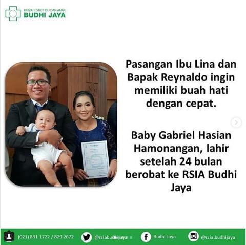 Pasangan Ibu Lina dan Bapak Reynaldo ingin memiliki buah hati dengan cepat